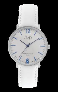 60f171b2c09 Bílé dámské luxusní elegantní hodinky JVD J4173.1 s modrými prvky