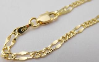 8e955a6c9 Dámský mohutný zlatý náramek (řetěz) s gravírováním 17cm 585/1,95gr 3640030
