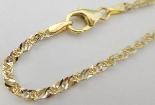 efcf917e1 Mohutný pevný zlatý dvojbarevný náramek TWIST z bílého a žlutého zlata 585/1 ,55gr