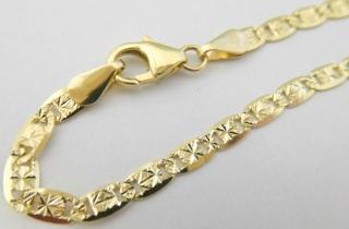 e2b75a20e Mohutný pevný zlatý gravírovaný dámský náramek ze žlutého zlata 585/2,22gr  18cm 3040490