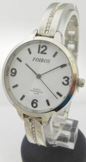 Dámské čitelné šperkové stříbrné hodinky Foibos 3374 s velkým přehledným  číselníkem 58cefa1acb