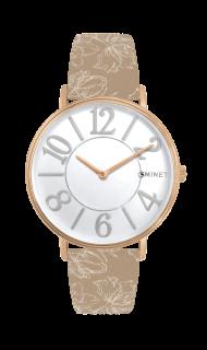 133012bc96b Růžovo-hnědé dámské hodinky MINET PARIS Belle MWL5054