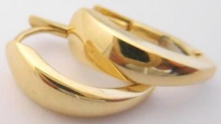 282385193c1c Hladké zlaté půlkroužky ze žlutého zlata - zlaté náušnice 585 1