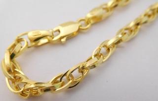 e5850c4f2 Ozdobný mohutný dámský zlatý gravírovaný náramek šířka 4mm délka 18cm 585/2,77gr  3640068