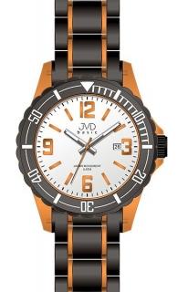 882a425a74c Luxusní dětské oranžovo-černé hodinky JVD basic J3004.2 pro teenagery 5ATM