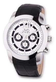 Pánské luxusní chronografy náramkové vodotěsné hodinky JVD steel V1176.1 d0e556383c4
