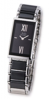 Černé dámské luxusní keramické náramkové hodinky JVD steel W23.1 černá  keramika 95de9f84445