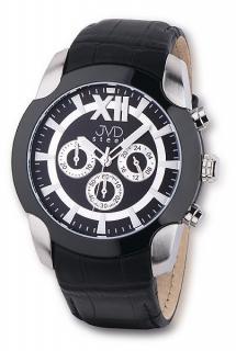 Pánský luxusní chronograf vodotěsné hodinky JVD steel C1176.3 na kůži a9279631fd2