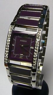 Luxusní dámské fialové keramické ocelové hodinky Foibos 1G27 6b26616754