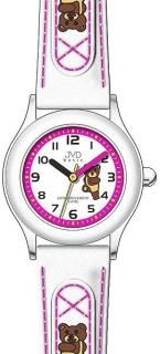 b94abdb2d98 Dětské bílo - růžové náramkové hodinky JVD basic J7034.4