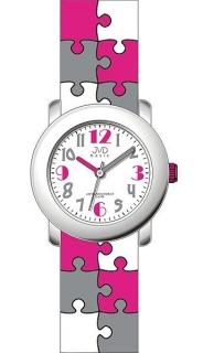Dětské barevné náramkové hodinky JVD basic J7124.1 s motivem PUZZLE a2ada342015