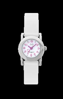 Dětské bílé náramkové hodinky JVD basic J7025.4 se srdíčkem 894b4782533