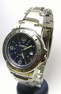 Vodotěsné ocelové pánské odolné moderní hodinky Foibos 2536 modrý číselník e0d54d2b6f