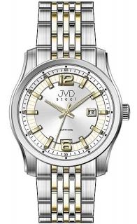fc01005de22 Pánské ocelové moderní náramkové hodinky JVD Steel W43.2 - stroj SEIKO 5ATM