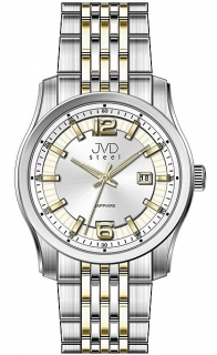 Pánské ocelové moderní náramkové hodinky JVD Steel W43.2 - stroj SEIKO 5ATM c864cee1238
