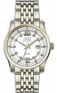 6f1cc2cd2 Pánské ocelové moderní zlaté hodinky JVD Steel W43.3 - stroj SEIKO 5ATM