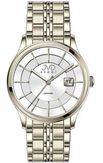 Luxusní zlaté hodinky JVD Steel W46.3 se safírovým sklem 5ATM b0dd73ae40e