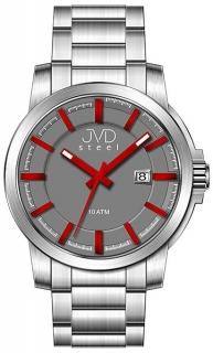 bb9c6bf733a Vodotěsné odolné pánské hodinky JVD steel W48.2 10ATM