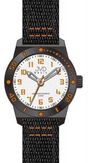 Černooranžové dětské chlapecké sportovní hodinky JVD basic J7129.2 5ATM 779c75c34f3