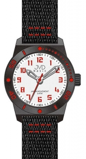 Černo-červené dětské chlapecké sportovní hodinky JVD basic J7129.3 5ATM e48cd9daac