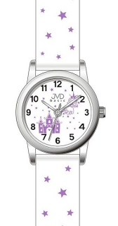 Dětské dívčí hvězdičkové hodinky JVD basic J7135.1 pro holky c2abf8887ad