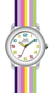 ab6885de388 Dětské náramkové hodinky JVD basic W58.2 s duhovým páskem