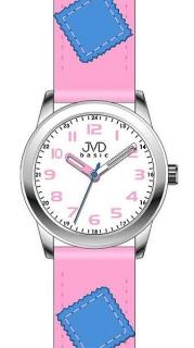 Růžové dětské náramkové hodinky JVD basic W61.1 f43ea2f3a2d