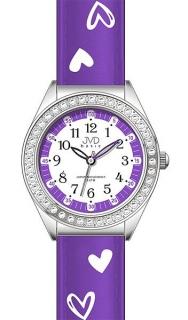 Dětské dívčí hodinky JVD basic J7117.3 se zirkony a srdíčky caf774e725