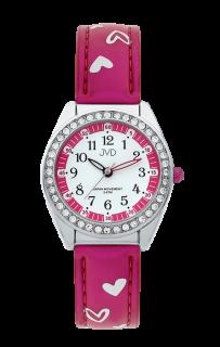 Dětské dívčí hodinky JVD basic J7117.5 se zirkony a srdíčky 0929b6585a