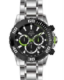 Sportovní vodotěsné ocelové chronografy hodinky JVD Seaplane J1089.1 - 10ATM 7f85cd89d9