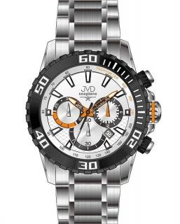 Sportovní vodotěsné ocelové chronografy hodinky JVD Seaplane J1089.2 - 10ATM 2bbad26b6c0