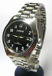 Ocelové voděodolné pánské čitelné hodinky Foibos 6299.2 - 5ATM bedbeab1ad