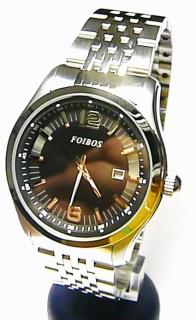 a0a246b0d9a Pánské luxusní voděodolné ocelové hodinky Foibos 1U94 s datumovkou