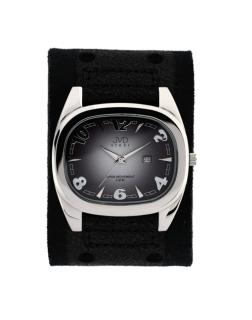 Dámské elegantní hranaté černé hodinky JVD steel J1071.1 e55b8a8ca9