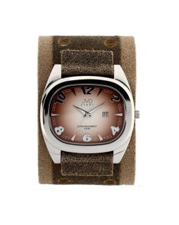 Dámské elegantní hranaté hnědé hodinky JVD steel J1071.2 5dc0110839