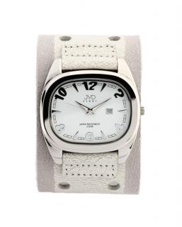 Dámské elegantní hranaté bílé hodinky JVD steel J1071.3 c48025e1cd