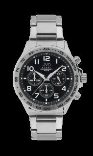Luxusní vodotěsné černé hodinky JVD steel J1079.2 chronografy 10ATM e9bd4322b69