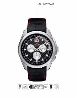 Luxusní chronograf - vodotěsné hodinky Swiss Alpine Millitary Grovana  1621.9537 da1b31cd9b