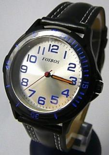fa84557c1ec Chlapecké sportovní černé dětské hodinky Foibos 2067.4 s modrými prvky