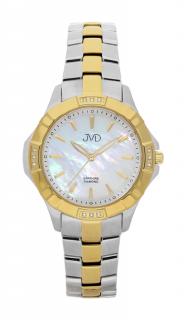 Náramkové hodinky JVD steel J4073.2 s pravými diamanty a safírovým sklem 01ece9d71e