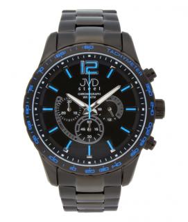 47b7fc2202a Vysoce odolné černé voděodolné hodinky s chronografem JA605.3