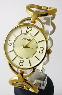 Dámské ocelové zlacené čitelné přehledné hodinky Foibos 45801 - pozlacené 11c5129e3fa