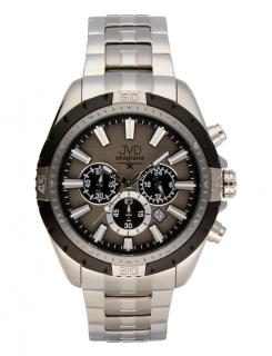 Černé vodotěsné odolné pánské nerezové hodinky JVD steel JA1913.1 s  chronografem 5bd93d18d71