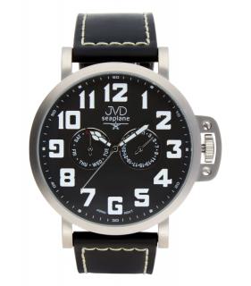 Luxusní pánské vodotěsné ocelové hodinky hodinky JVD Seaplane JA1323.1 573c3621f83