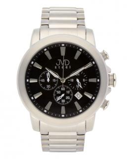 Mohutné ocelové moderní vodotěsné hodinky JVDC 725.1 - chronograf 10ATM abc7e42503