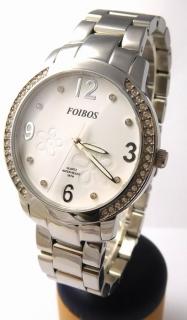 Dámské šperkové stříbrné hodinky s kamínky po obvodu Foibos 25961 f50c5b4692