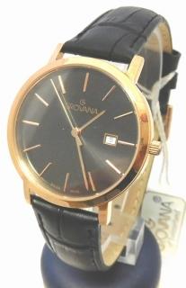 d3da6f0db8c Dámské luxusní švýcarské zlacené hodinky Grovana 3230.1967 na koženém pásku