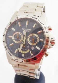 000303f6a23 Mohutné pánské ocelové vodotěsné hodinky - chronograf Foibos 1300.1  10ATM