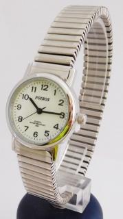 Dámské stříbrné ocelové hodinky Foibos 7432.1 s natahovacím páskem b1ecc56647
