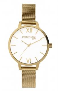 69d9eadb58c Dámské luxusní designové hodinky SUNDAY ROSE Fashion ROYAL GOLD